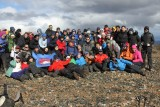 Group picture in the summit of Mount Betinelli, at the sight of Cape Horn