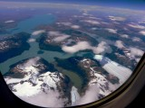 Today's beautiful aerial ­view of the Patagonian l­akes and ice fields­