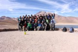 The group on Laguna Miñiques, about 4000 m high